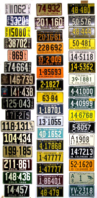 Colorado License Plate History