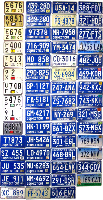 Connecticut License Plate History