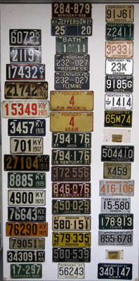 Kentucky License Plate History