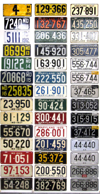 Maryland License Plate History