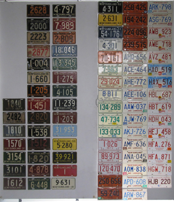 Newfoundland License Plate History