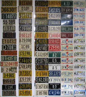 South Carolina License Plate History